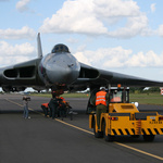 XH558 Ready for a Pushback